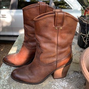 Lucky brand cowboy booties